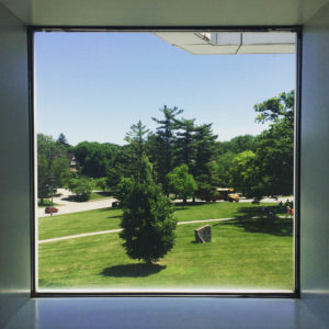 It's Monday, so here's a peaceful lookout at the Des Moines Art Center.